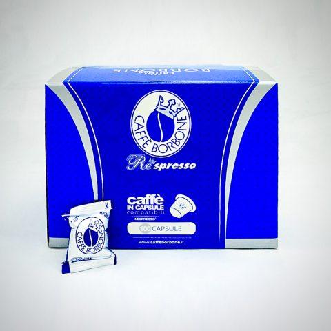 100 Nespresso kompatible Kapseln von Caffe Borbone blue